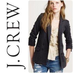 J. Crew | Charcoal Wool Long Benny Blazer